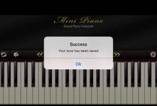 Mini Piano ®, Message informing you the successful save operation
