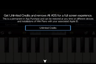 Mini Piano ®, Get Unlimited Credits