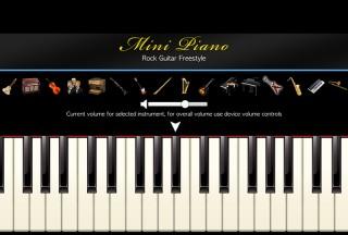 Mini Piano ®, Choose instrument