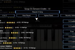 Mini Piano ®, Choose song