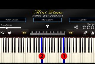 Mini Piano ®, Play and learn