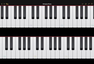 Virtuoso Piano Free 4, Medium display mode