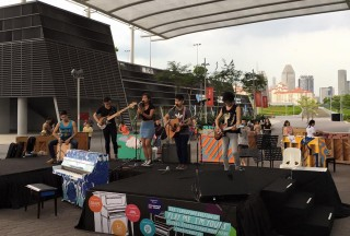 Play Me, I'm Yours Singapore 2016, Official Launch, Victoria Street