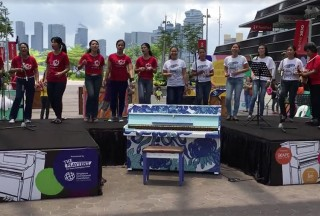 Play Me, I'm Yours Singapore 2016, Official Launch, Home Shelter Choir