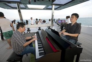 Pianovers Sailaway 2016, Gee Yong, and Mark Sim
