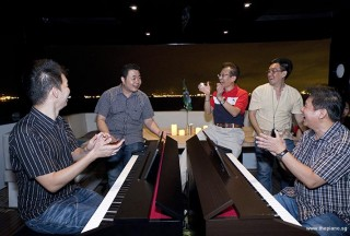 Pianovers Sailaway 2016, Mark, Jerome, Lawrence, Chris, and Gee Yong