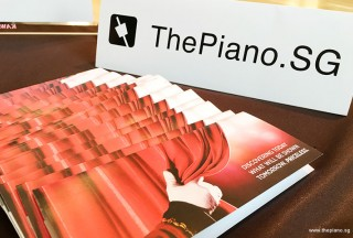 Adam Gyorgy Concert with Pianovers, ThePiano.SG Tent Card, and complimentary tickets for Pianovers to collect