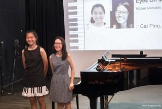 Pianovers Recital 2017, Cai Ping, and Li Ying performing