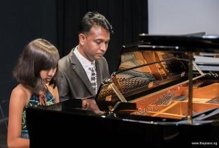 Pianovers Recital 2017, Peter Prem, and Jeslyn Peter performing