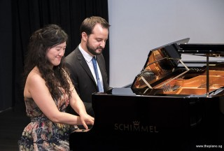 Pianovers Recital 2017, Vanessa Yu, and Mitchell Chapman performing