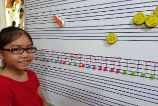 Whenever possible we will use learning aids to teach music theory. Subdivision lessons in progress.