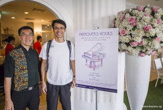 Pianovers Hours, Chris, and Theng Beng with Pianovers Hours poster