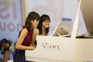 Pianovers Hours, Yun Wei, and Corrine performing #3