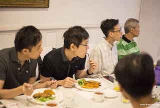 Pianovers Hours, Wenqing, Gerald, Wen Jun, and Albert enjoying the performance