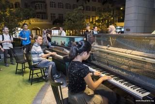 Pianovers Meetup #54, Chris jamming with Erika