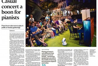 "Straits Times, Home, 19 Oct 2017, Pianovers Meetup featured in ""Casual concert a boon for pianists"""