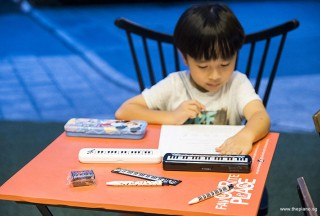 Pianovers Meetup #67, Brandon with his new set of stationery purchased from ThePiano.SG Online Store