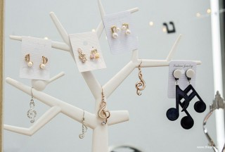 ThePiano.SG Pop-up Stall @ Suntec, Piano themed Earrings