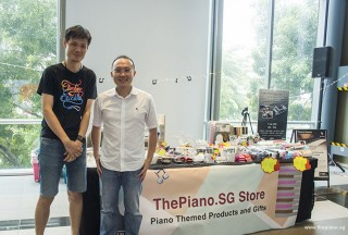 ThePiano.SG Pop-up Stall @ Suntec, Melvin, and Yong Meng