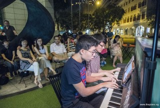 Pianovers Meetup #75, Jeremy Foo, and Matthew Soh performing