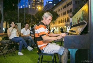 Pianovers Meetup #76, Albert performing