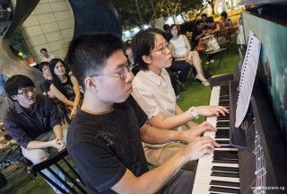 Pianovers Meetup #77, Jeremy Foo, and Grace Wong performing