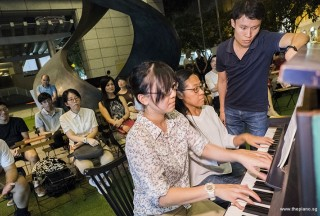 Pianovers Meetup #77, Zhi Jing, and Winnie performing