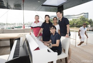 Pianovers Sailaway #2, Albert, Winny, Erika, Hiro, and Siew Tin
