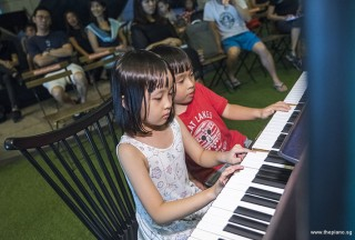 Pianovers Meetup #82 (Hari Raya Themed), Emmy, and Brandon performing