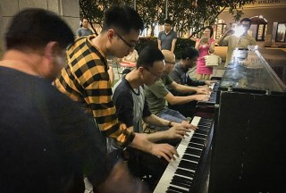 Pianovers Meetup #94 (Mid-Autumn Themed), Teo Gee Yong, Kendrick Ong, Yu Teik Lee, Brian, and Peter Prem playing