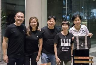 Pianovers Meetup #95, Sng Yong Meng, Elyn Goh, Teo Gee Yong, Pek Siew Tin, and Chung May Ling