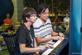 Pianovers Meetup #96, Siew Tin, and Teh Yuqing performing