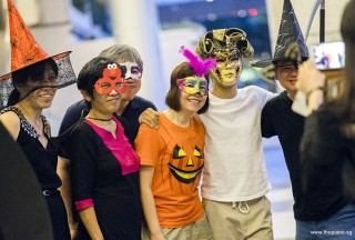 Pianovers Meetup #99 (Halloween Themed), May Ling, Lim Ee Fong, Adrian Huang, Catherine, Gregory Goh, and Teo Gee Yong