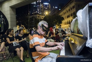 Pianovers Meetup #99 (Halloween Themed), Albert performing for us