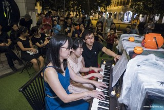 Pianovers Meetup #99 (Halloween Themed), Li Zhijing, and Ten Xiao Qin performing