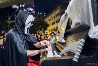 Pianovers Meetup #99 (Halloween Themed), Hiro performing for us