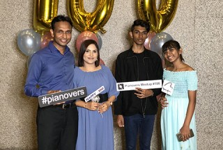 Pianovers Meetup #100 (Celebratory Themed), Pianovers taking picture at photo booth #13
