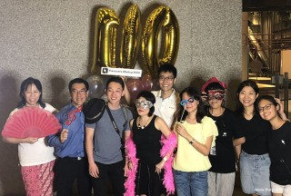 Pianovers Meetup #100 (Celebratory Themed), Pianovers taking picture at photo booth #22
