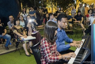 Pianovers Meetup #101, Jeslyn Peter, and Peter Prem performing