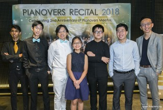 Pianovers Recital 2018, Joshua Peter, Jonathan Lam, Teh Yuqing, Erika Iishiba, Xavier Hui, Jeremy Foo, and Yu Teik Lee
