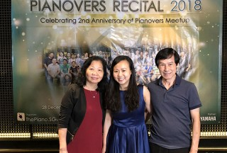 Pianovers Recital 2018, Pauline Tan, and her parents