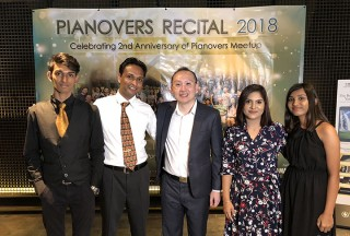Pianovers Recital 2018, Joshua Peter, Peter Prem, Sng Yong Meng, Leena, and Jeslyn Peter