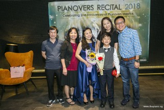 Pianovers Recital 2018, Pauline Tan, her parents, Shawn Lee, and his parents