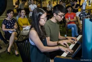 Pianovers Meetup #109, Grace Leong, and Joshen performing