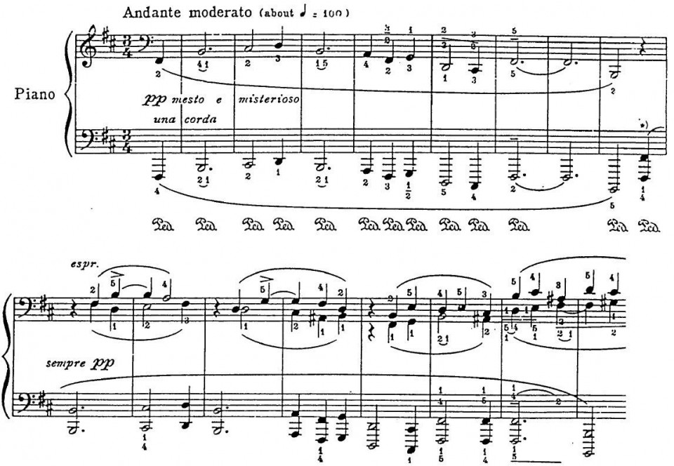 Figure 3(a). Godowsky's Passacaglia: Theme and Variation 1