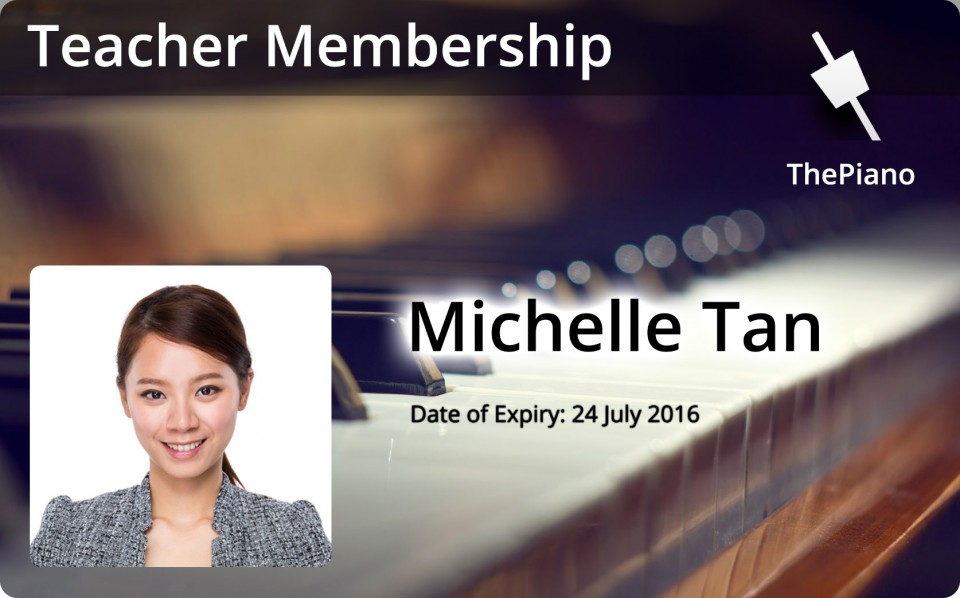 ThePiano Teacher Membership Card