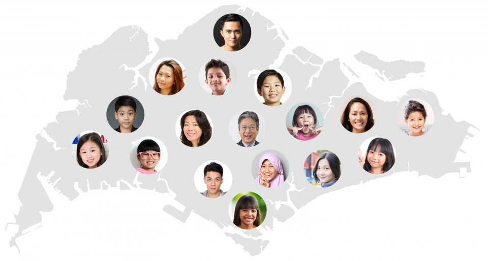 Singapore Map with Students