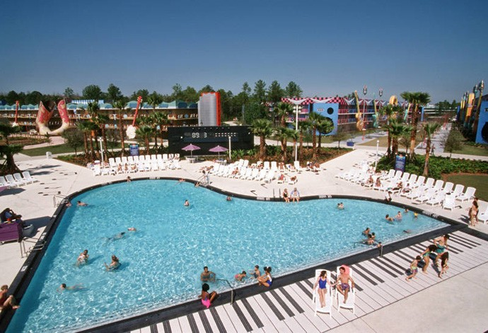Piano pool at Disney All-Star Music resort in Florida (Photo by DesignRulz.com)