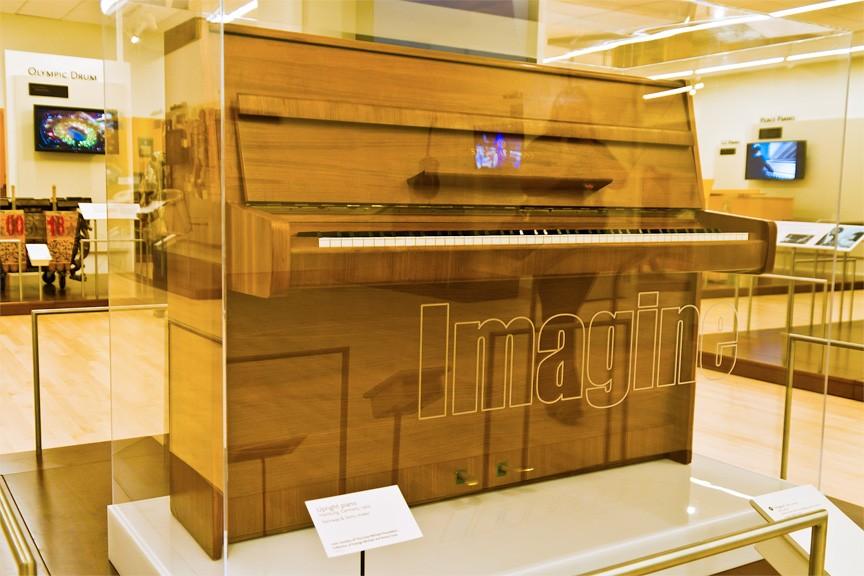 John Lennon piano, Steinway & Sons Model Z (Photo by Alux.com)