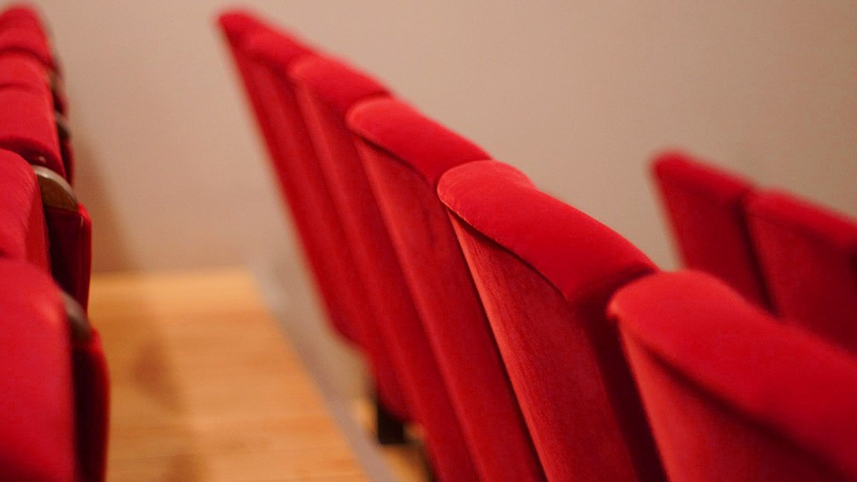 concert red seats